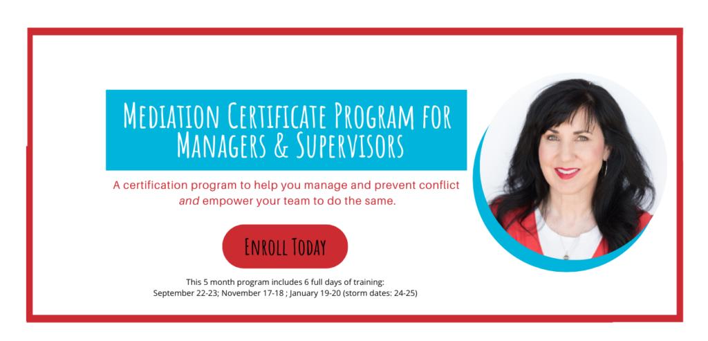 Register for the Mediation Certification Program